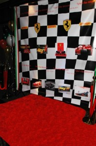 red carpet Ferrari
